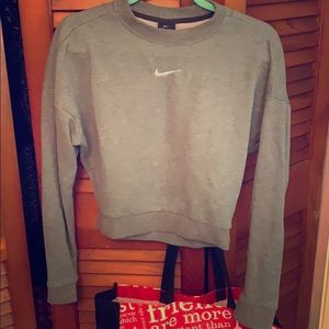 Nike crop open back sweatshirt